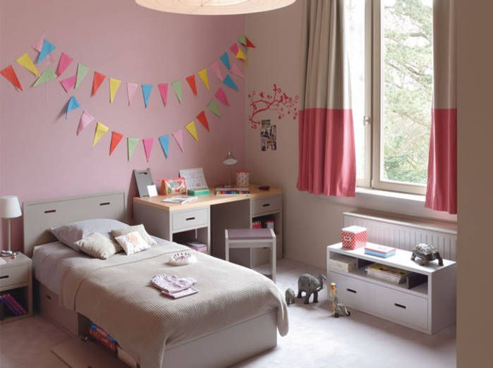 Awesome Chambre Fille Couleur Vieux Rose Photos - Design Trends ...
