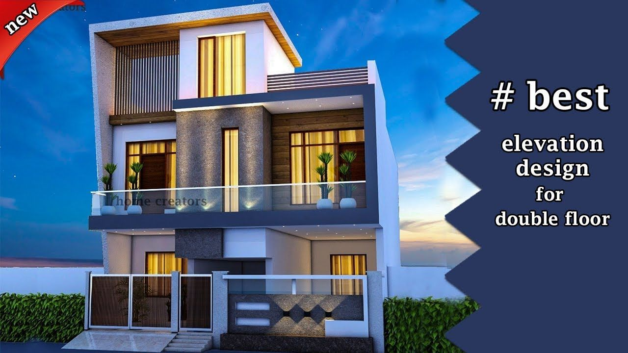 30 Most Beautiful Modern House Front Elevation Design Double Floor