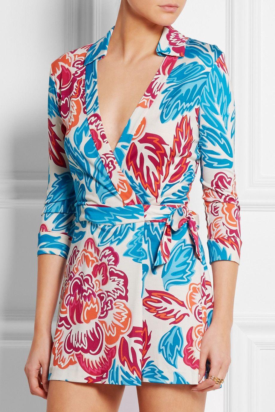 Diane von Furstenberg | Celeste floral-print silk-jersey playsuit | NET-A-PORTER.COM