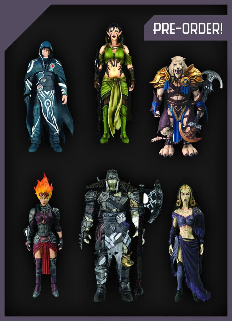 LEGACY MTG PLANESWALKERS SET OF 6 ACTION FIGURES