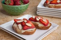 Strawberry and Brie Bruschetta