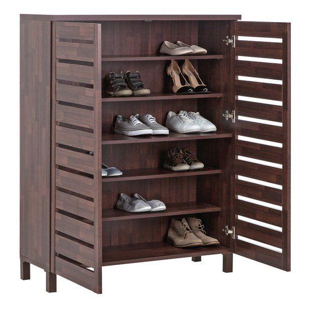 Buy Argos Home Slatted Shoe Cabinet
