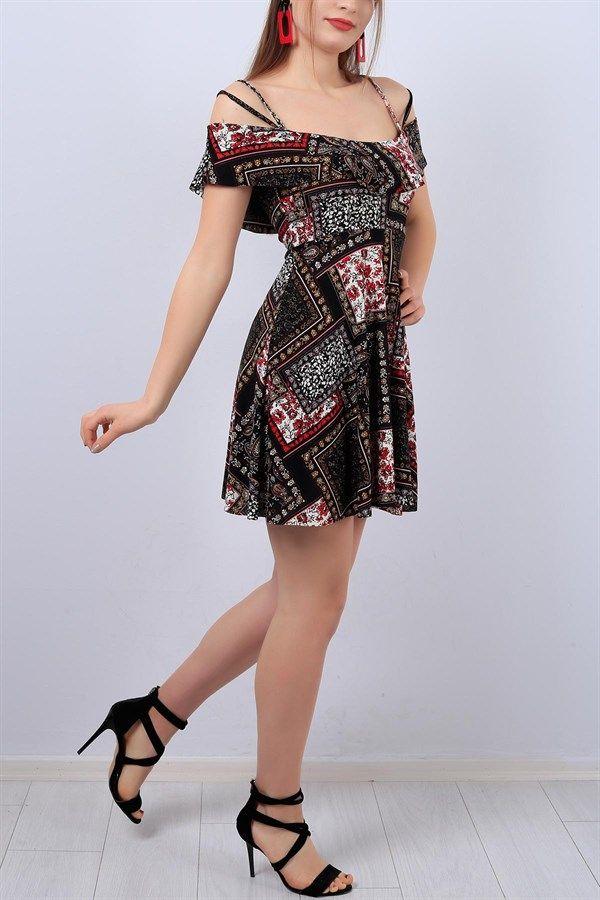 Photo of 19,95 TL Askılı  Desenli Bayan Elbise 12993B | ModamızBir
