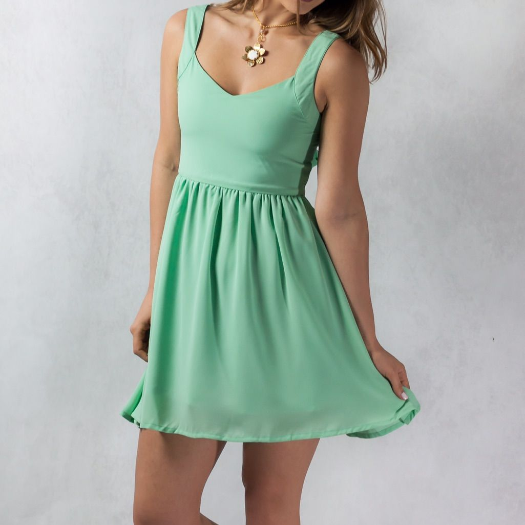 Final Price! Mint Short Sundress With Back Bow #shortsundress Final Price! Mint Short Sundress With Back Bow #shortsundress