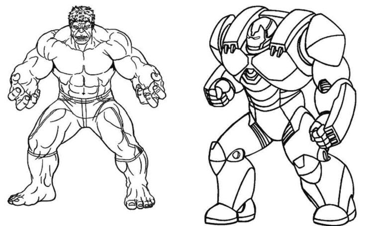 Iron Man Hulkbuster Coloring Pages Avengers Coloring Avengers
