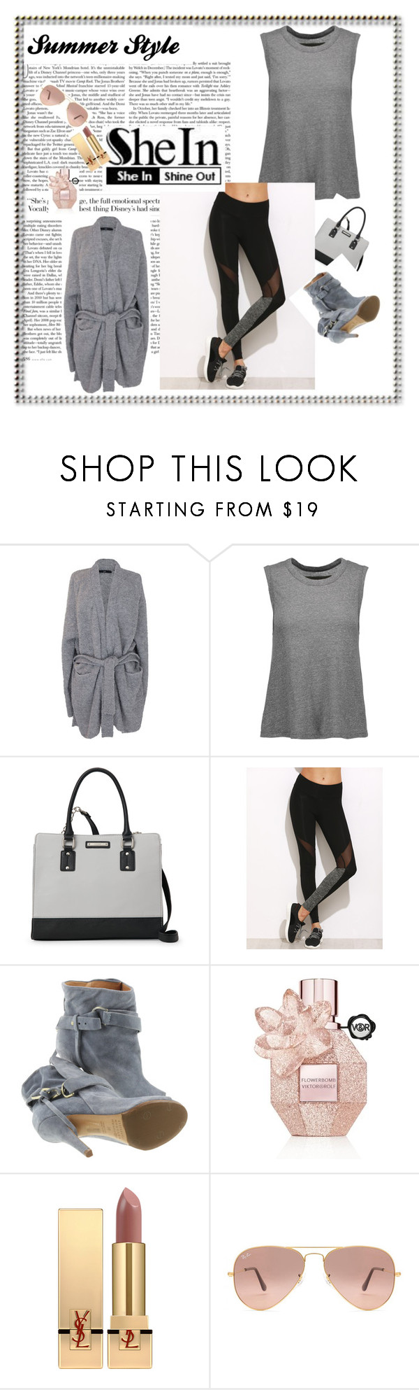 """""""liwuir"""" by melisa-484 ❤ liked on Polyvore featuring TIBI, Enza Costa, Nine West, Maison Margiela, Viktor & Rolf, Yves Saint Laurent and Ray-Ban"""