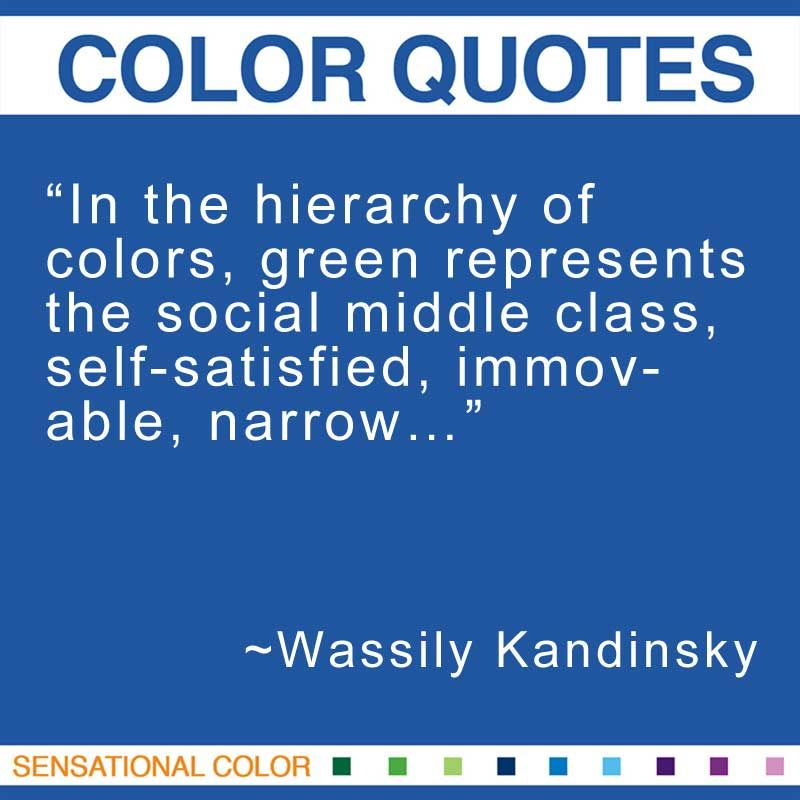 In The Hierarchy Of Colors Green Represents The Social Middle