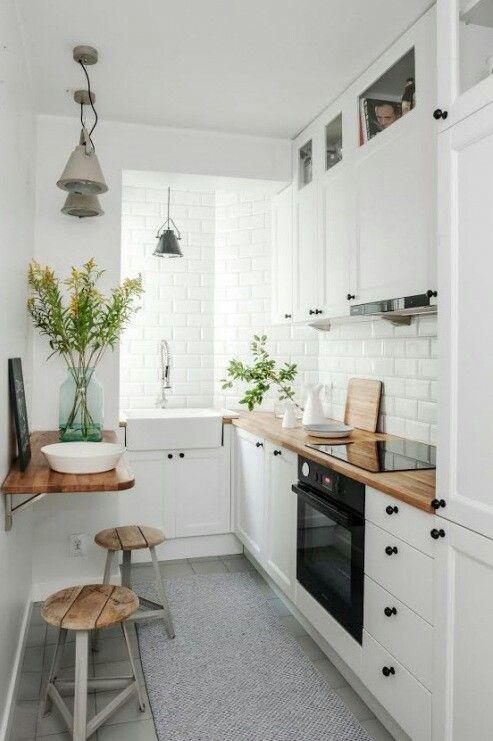 Biała Kuchnia Z Cegła. Narrow KitchenSmall ...
