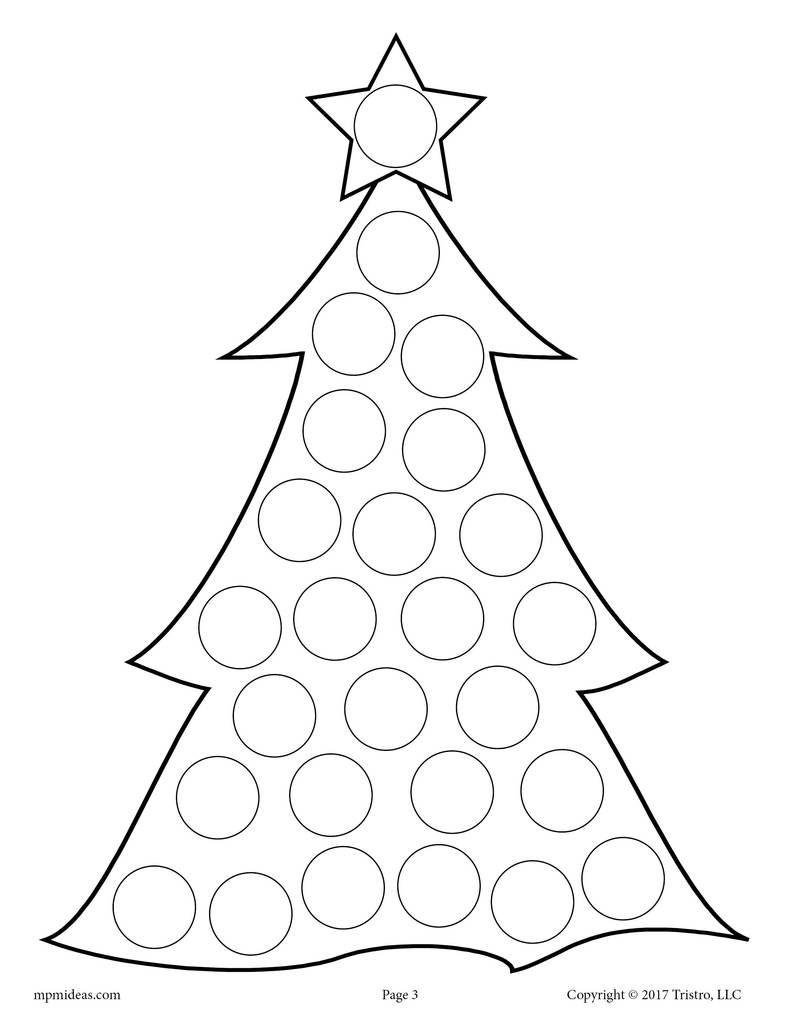 10 Christmas Do A Dot Printables Preschool Christmas Winter Crafts Do A Dot