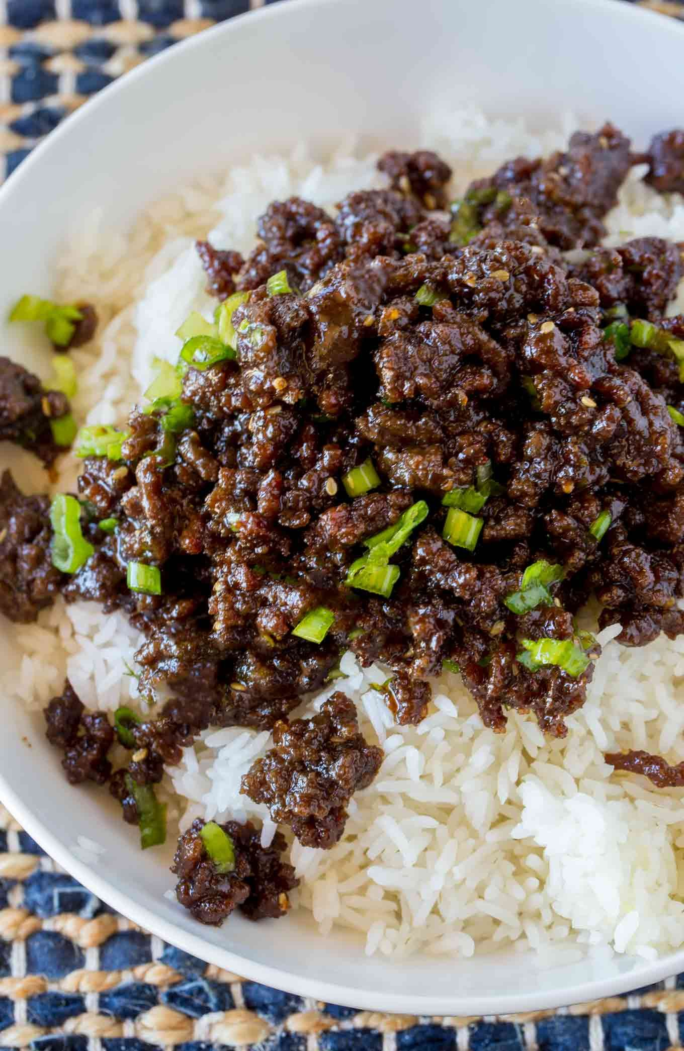 Sweet And Spicy Korean Ground Beef With All The Flavors Of Your Favorite Korean Bbq But For A Third Of T Dinner With Ground Beef Korean Ground Beef Beef Dinner