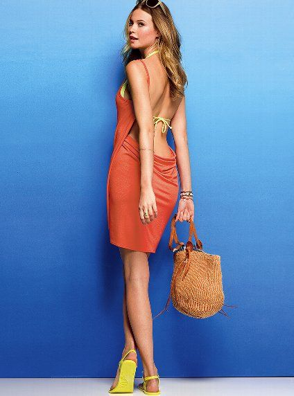 Love It Beach Y Cant Beat Victoria S Secret Open Back Cover Up Dress