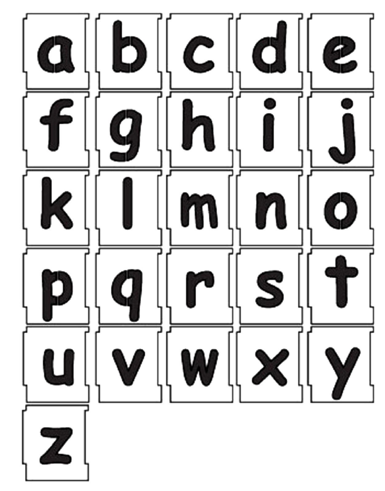 50mm Alphabet Letters Lowercase Stencil Set A To Z