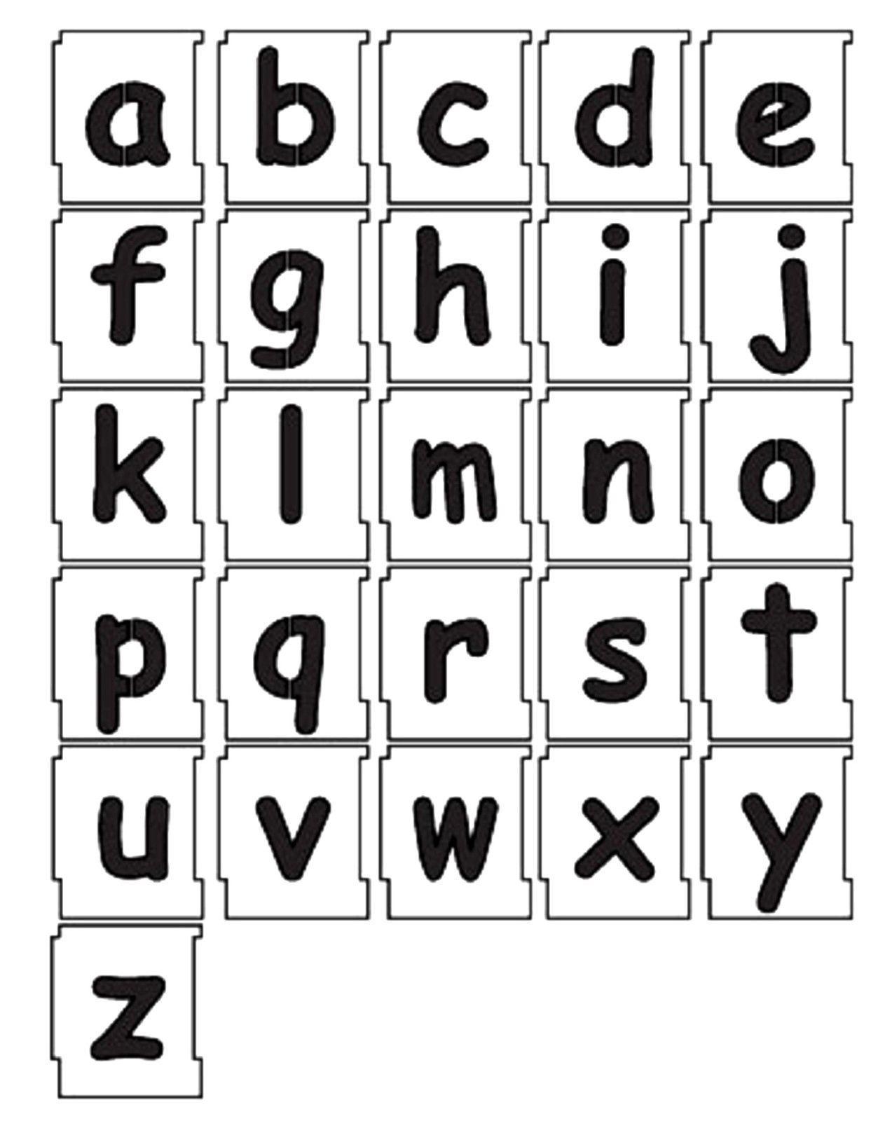 50mm Alphabet Letters Lowercase Stencil Set A To Z