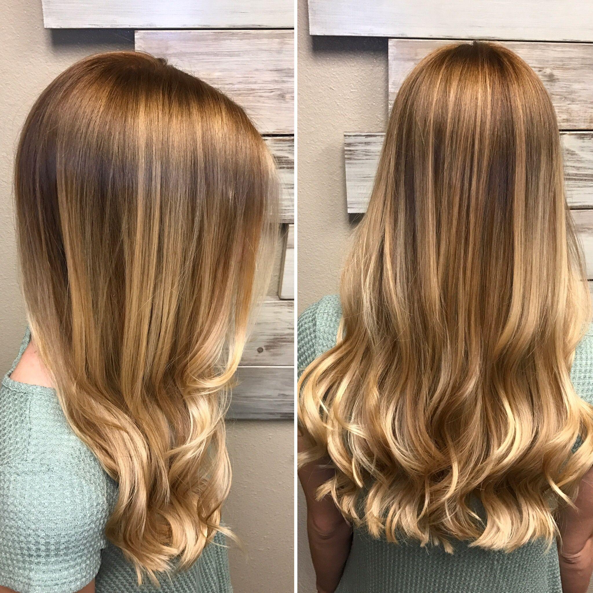 Warmes Blondes Haar Mit Leichten Goldenen Reflexen En 2020