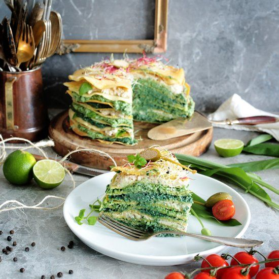 Savoury chickpea crepe cake foodgawker crepe cake crepes and food forumfinder Gallery