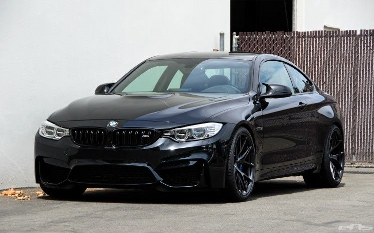 Black Sapphire Bmw M4 With Matte Black Hre Wheels With Images