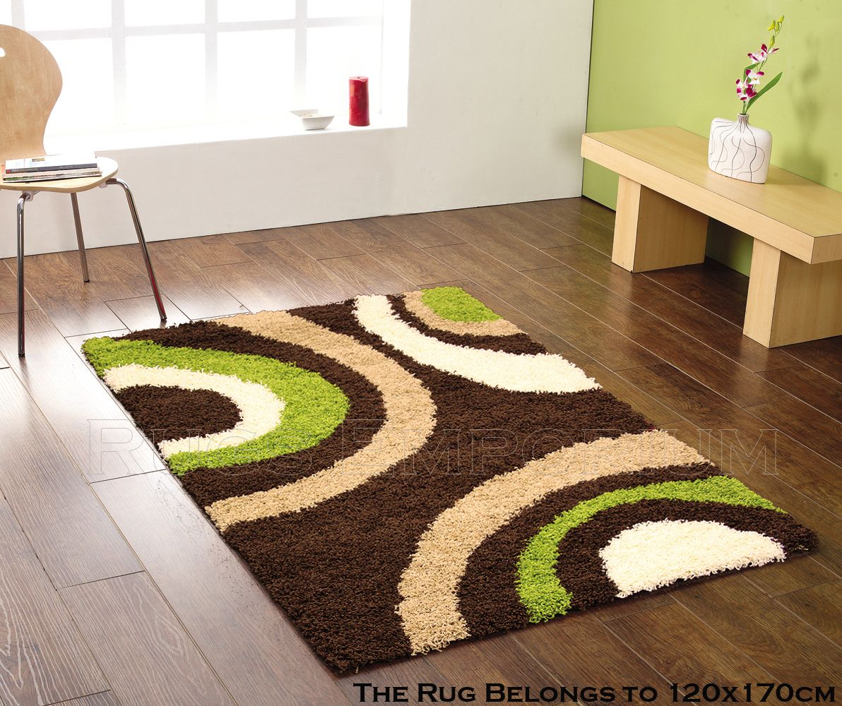 Small Extra Large Dark Chocolate Brown Lime Green Beige Cream Ivory Gy Rug