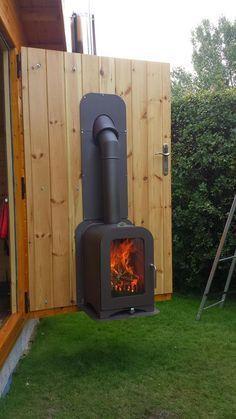 Vesta Fire Exit Custom Wood Stove 05 Outdoor Indoor Install