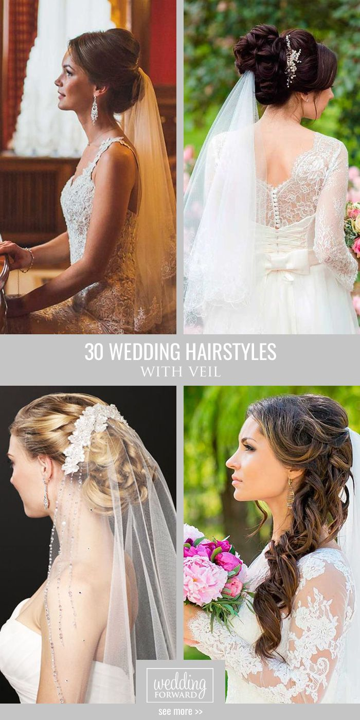 42 wedding hairstyles with veil | pinterest | hochzeitsfrisuren