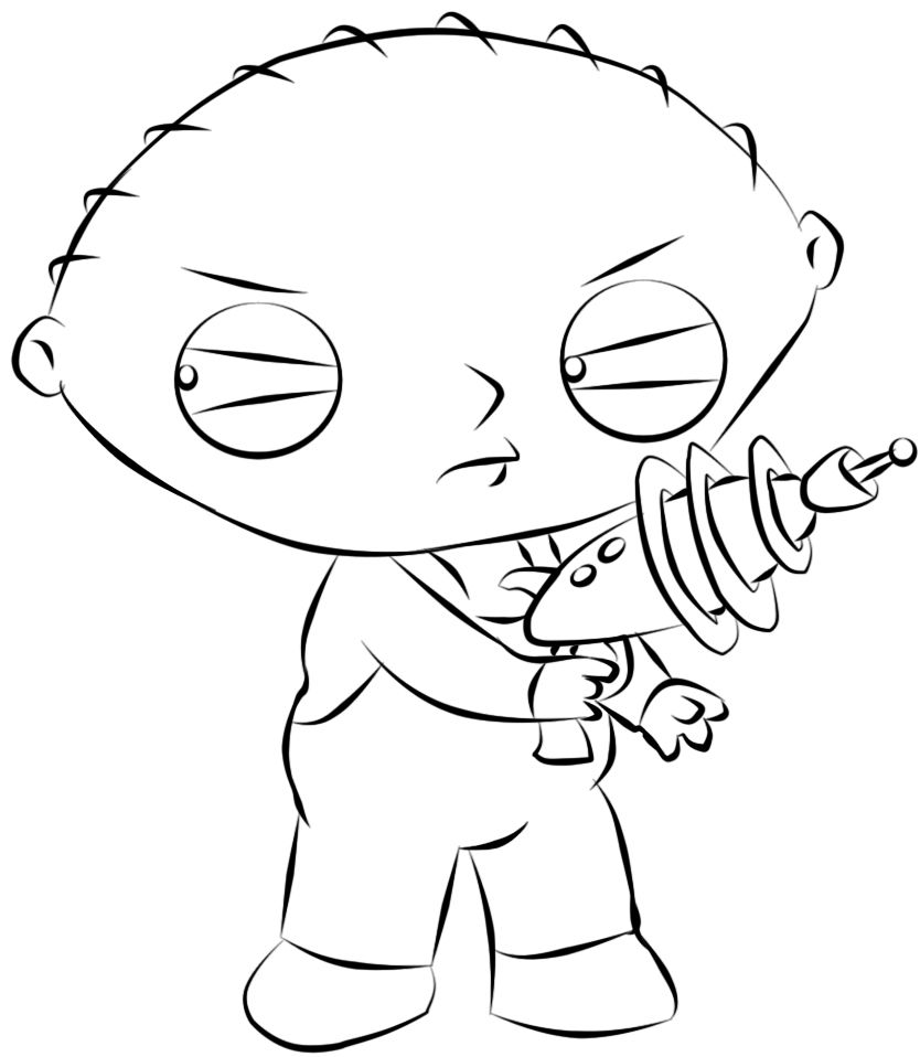 Family Guy Coloring Pages Family Guy Coloring Pages Stewie Cat