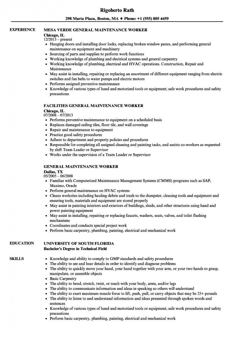 10 Primary Upkeep Resume