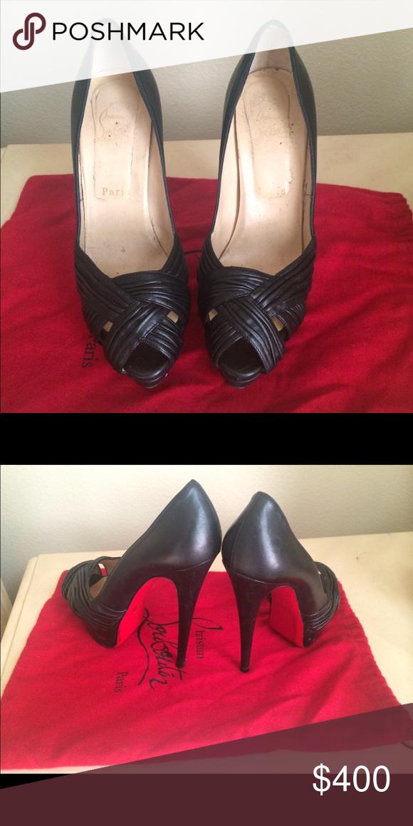 e152b895df3 Christian Louboutin ❤️ Black heels Size: 38.5 in 2018 | My Posh ...