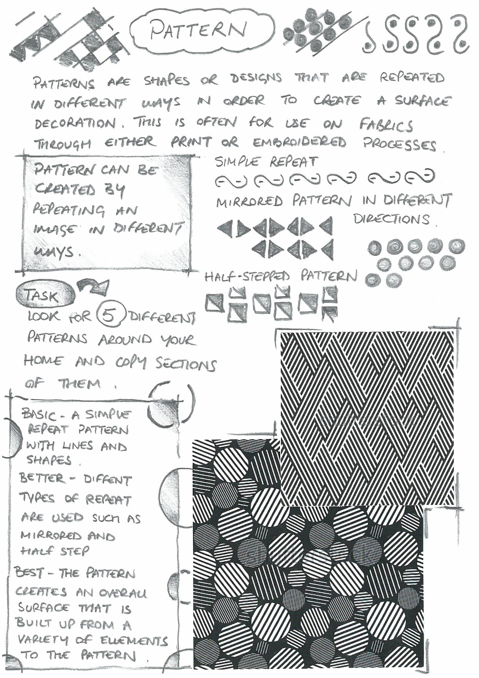 Texture Worksheet For Art Students