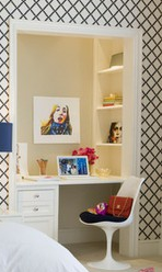 office in a closet…love this but I will turn mine into a vanity…with lights and a mirror.Thats what I'm talking about!
