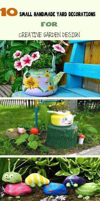 10 Small Handmade Yard Decorations For Creative Garden Design