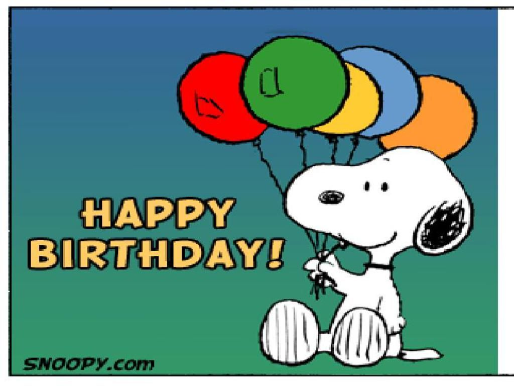 pictures of snoopy – Cartoon Birthday Greetings