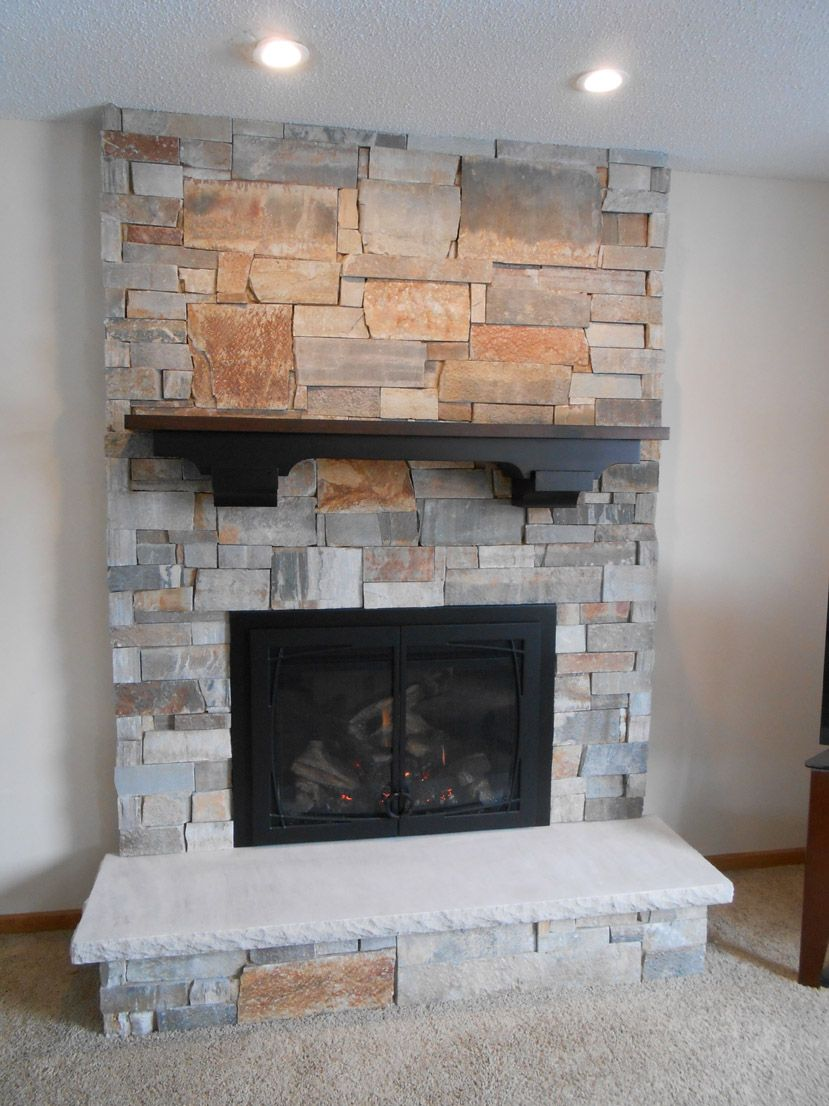 Interior simple gas fireplace repair around brick wall design and