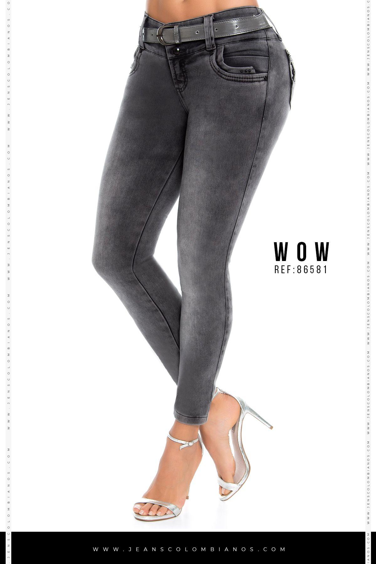 Jeans Levanta Cola Ref Wow 86581 Jeans De Moda Pantalones De Moda Moda De Ropa