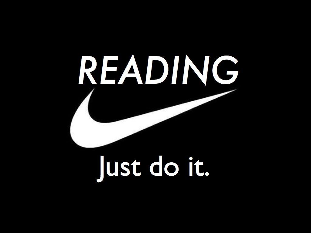 reading just do it encouraging reading pinterest