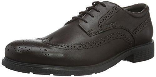 Geox U Efrem a, Zapatos de Cordones Oxford para Hombre, Schwarz (BLACKC9999), 42 EU