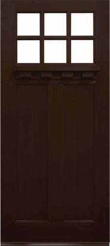 Mastercraft® 36  x 80  Prefinished Fiberglass 6-Lite Exterior Door Slab Only at Menards® & Mastercraft® 36