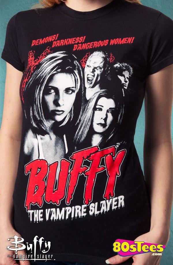 Buffy the Vampire Slayer TV Short Sleeve Men/'s Tshirts Black