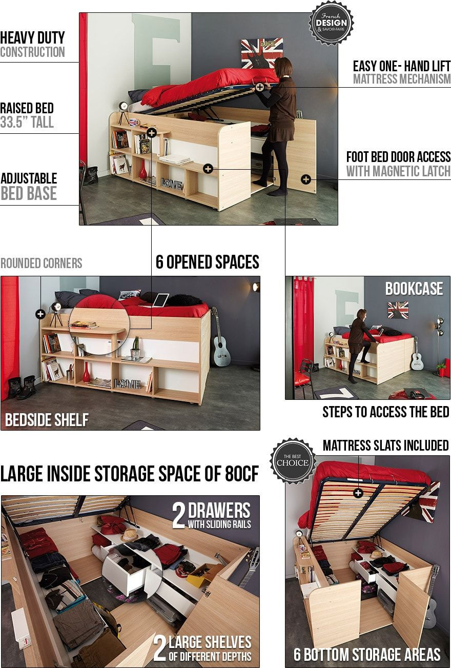 Space Up Bed And Storage Space Saving Furniture Tiny Houses Bed