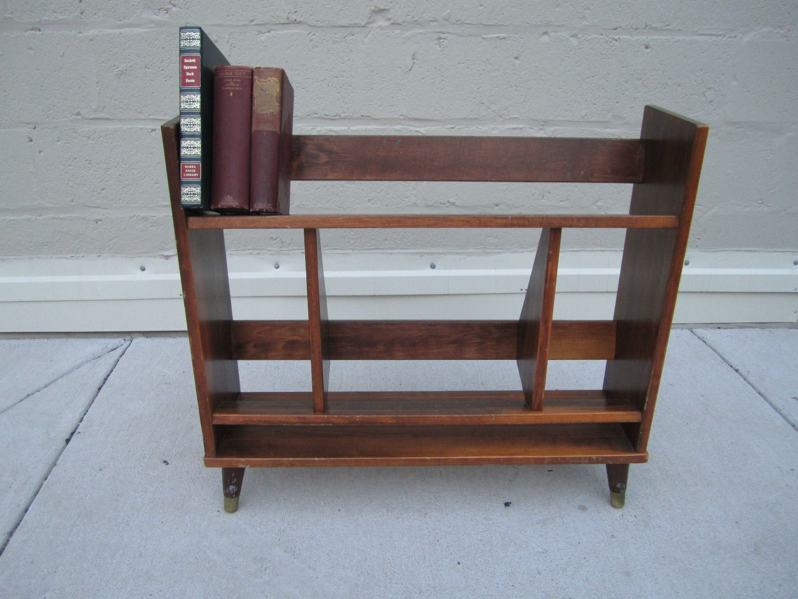 Mcm unique vintage small modern bookshelf bookcase stand for What does mcm the designer stand for