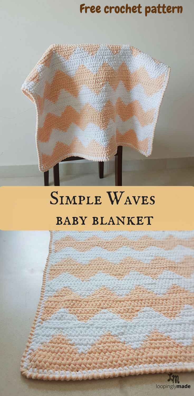 Simple Waves Baby Blanket- Free Crochet Pattern | Baby blankets ...