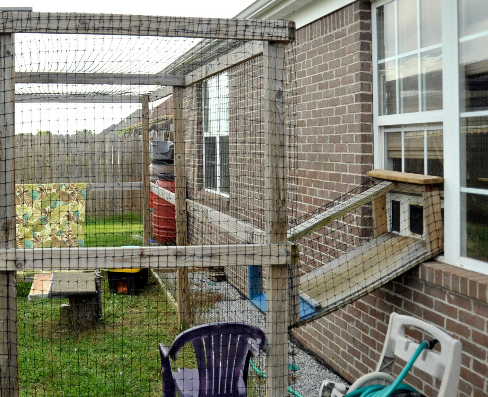 catio with window ramp attachment | catio | Outdoor cats