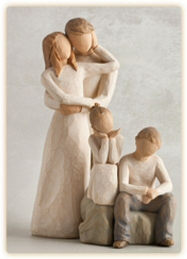 Willow Tree Mother /& Son with Daughter Figurines NEW