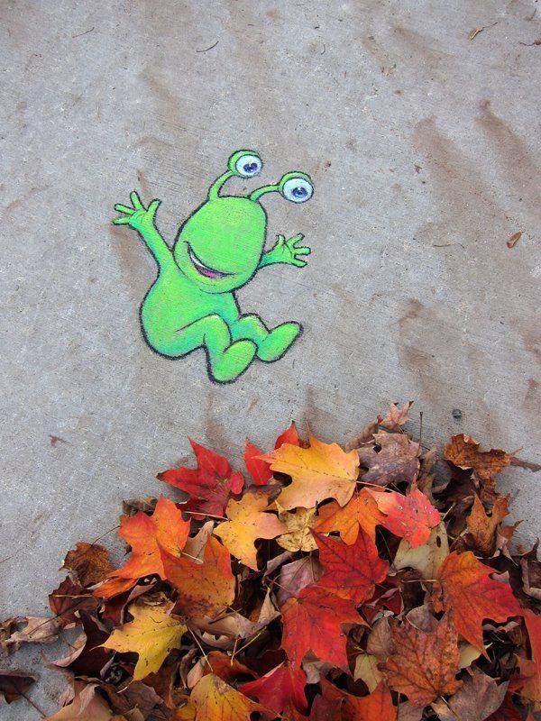 street art by David Zinn (October 22, 2011)
