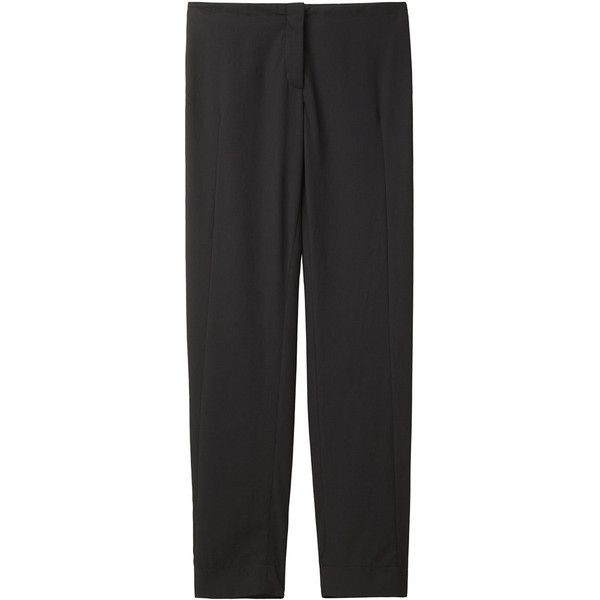 Cacharel Tapered Twill Pant ($128) ❤ liked on Polyvore featuring pants, peg-leg pants, relaxed pants, lightweight pants, tapered pants and twill trousers
