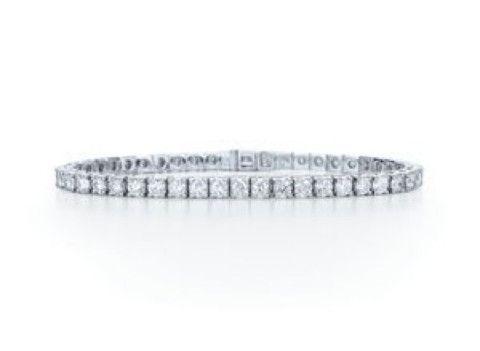 7ct #BrilliantCut #Diamond Line #Tennis #Bracelet 18ct #WhiteGold #ijl2015