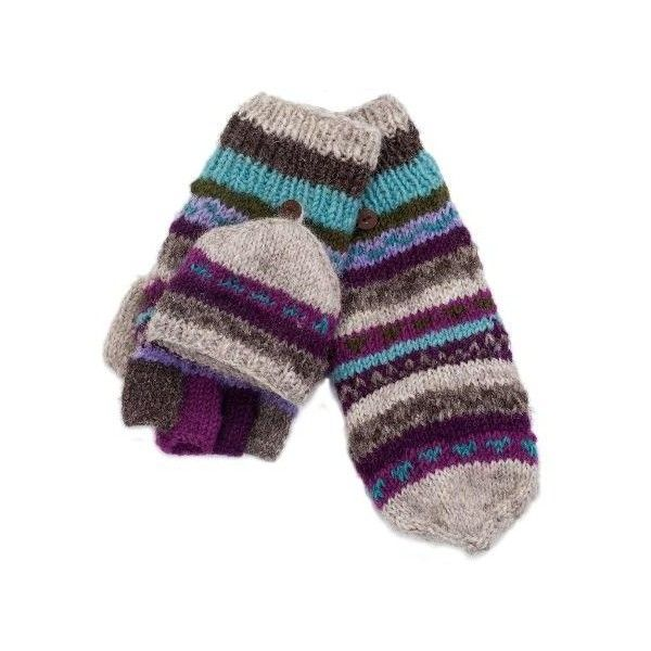 Lost Horizons Sheridan Convertible Mittens ($22) ❤ liked on Polyvore featuring accessories, gloves, convertible mitten gloves, convertible gloves, convertible fingerless gloves, fingerless mitten gloves and fingerless mittens