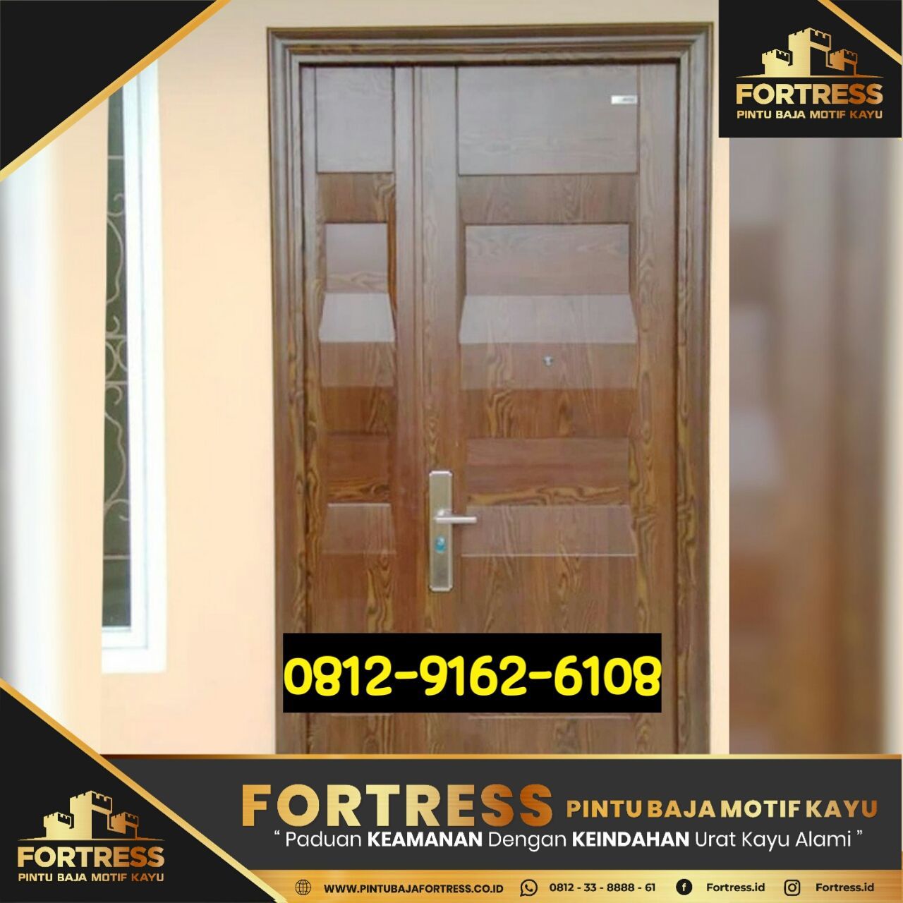 0812-9162-6105 (FOTRESS), the price of steel doors in Semarang, pint …