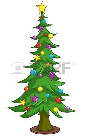 Beautiful Christmas New Year Card Illustration Christmas Tree Drawing Cartoon Christmas Tree Christmas Drawing