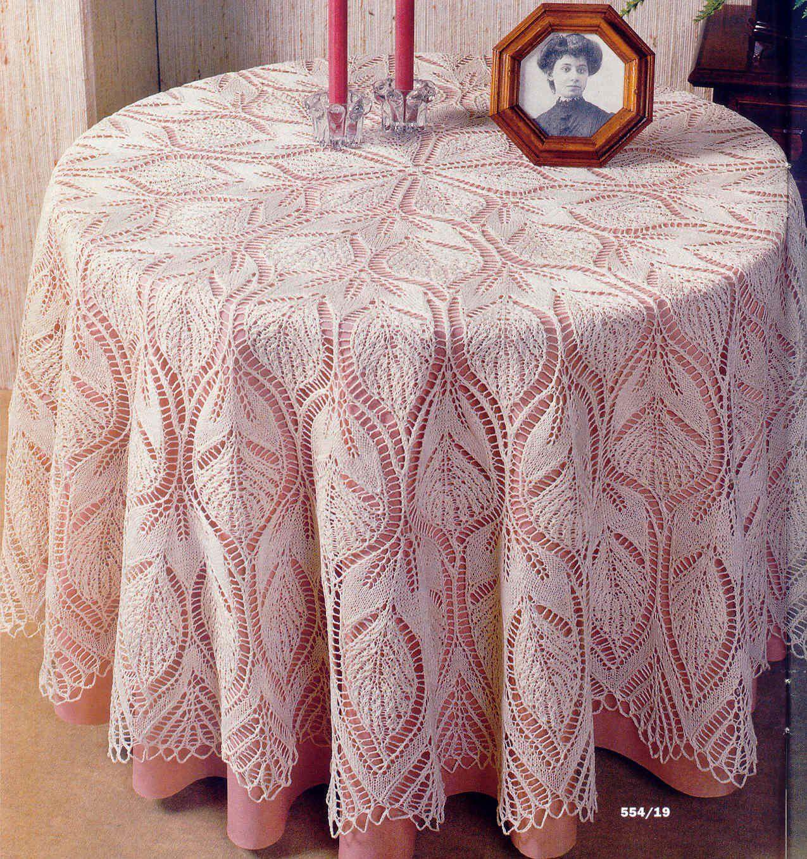 платок вязаный схема и описание