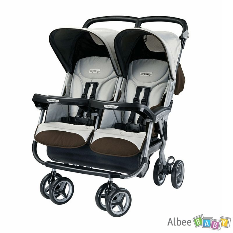 Peg Perego Aria Twin Stroller The Top Double Stroller With Car Seat For Infant And