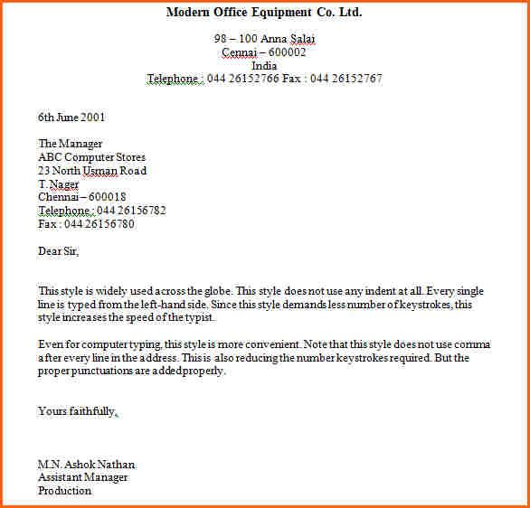 business letters block format contract template sample cover - business cover letter example